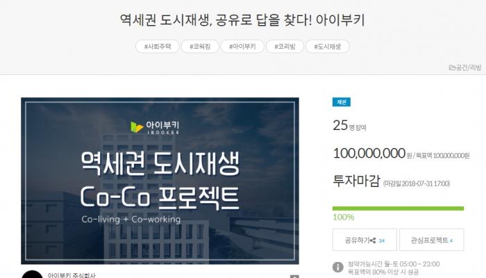 장안동 'Co-Co 프로젝트' 크라우드펀딩 100% 성공~!